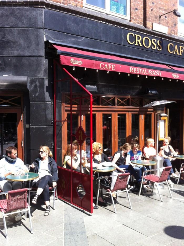 Læskærme ved Cafe Cross i Århus